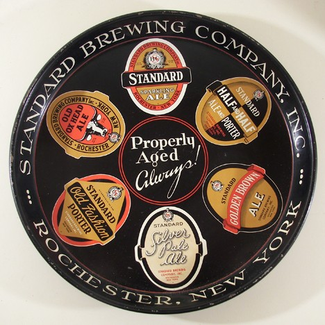"Standard Brewing Co. ""Properly Aged Always!"" 12"" Tray Beer"