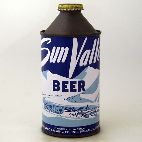 Sun Valley Beer Unlisted All White Can Beer