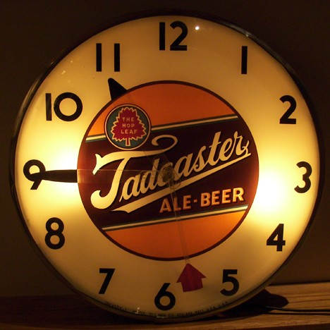 Tadcaster Ale & Beer Lighted Telechron Clock Beer