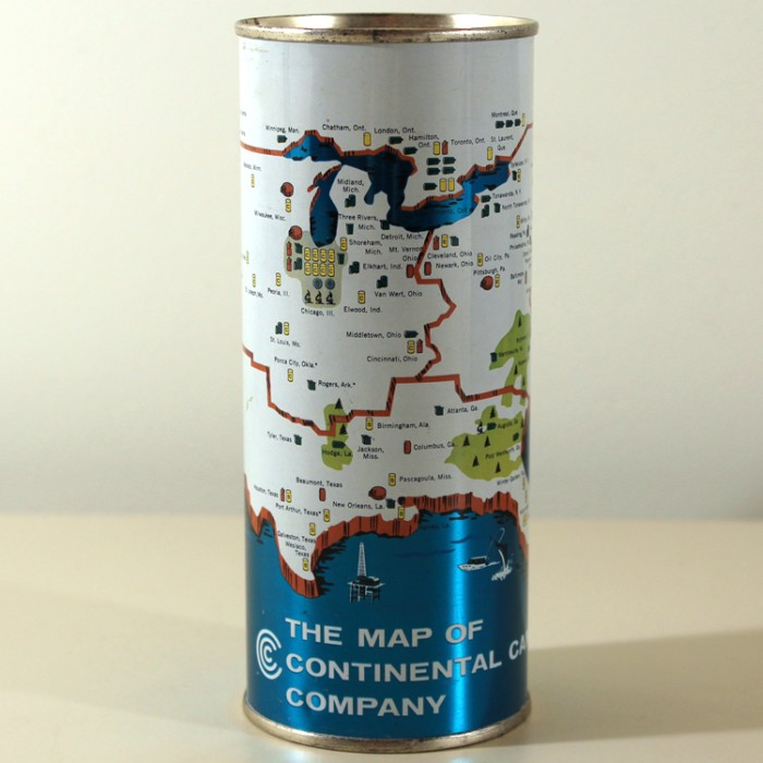 The Map of Continental Can Company NL Beer