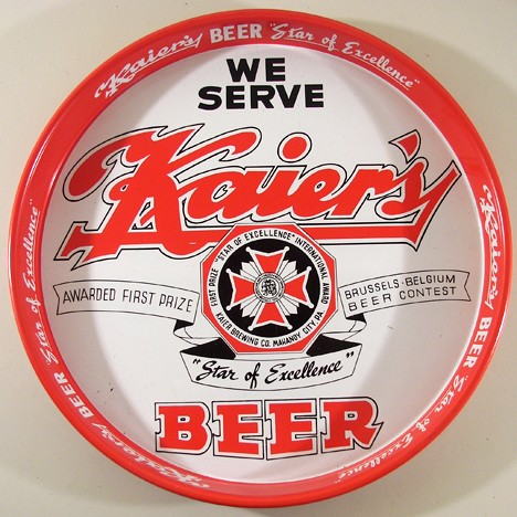 "We Serve Kaier's Beer 12"" Tray Beer"