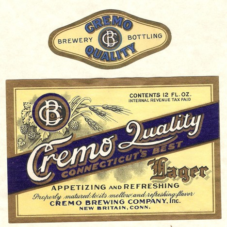 Cremo Quality Lager Beer Label Beer
