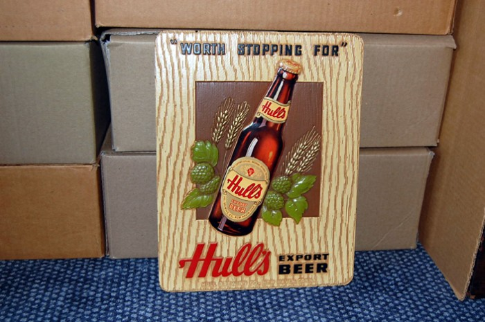 Hull's Export Beer Sign Beer