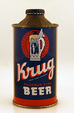 Krug Cone Top Beer Can 172-12 Beer