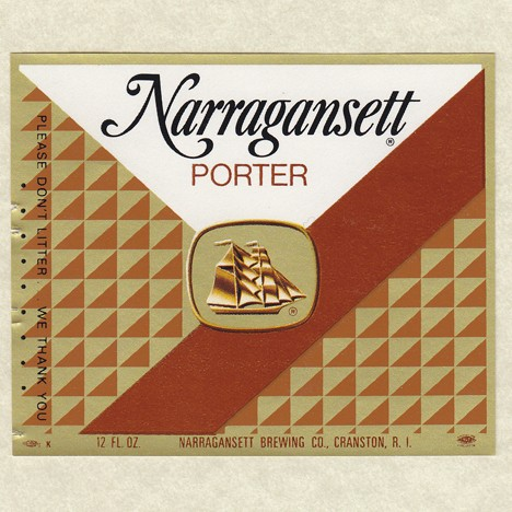 Narragansett Porter Beer Label Beer