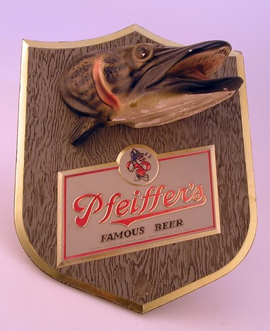 Pfeiffer's Muskie Beer Sign Beer