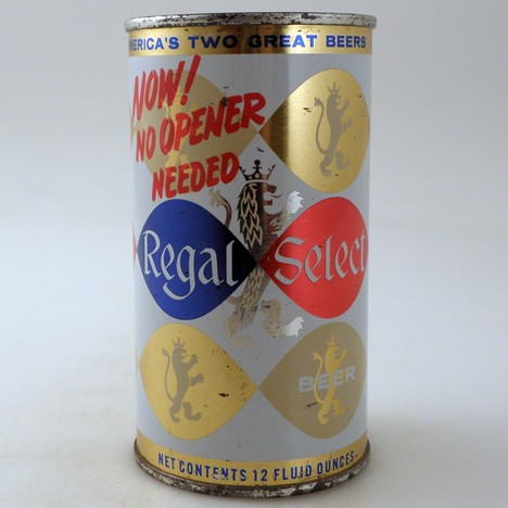 Regal Select No Opener 113-33 Beer