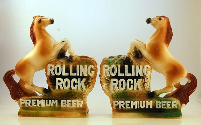 Rolling Rock Horse Set Beer