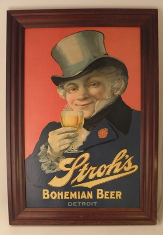 Stroh's Bohemian Detroit Sign Beer