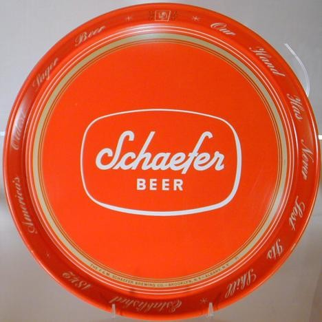 Schaefer Beer Tray Beer