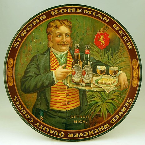 Strohs Bohemian Beer Tray Beer