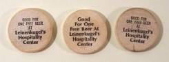 3 Leinenkugel's Wooden Nickels Photo 2