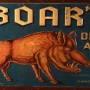 Boar's Beer & Ale Embossed Tin Sign Photo 2