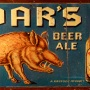 Boar's Beer & Ale Embossed Tin Sign Photo 3
