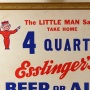 "Esslinger's ""4 Quarts"" Framed Cardboard Sign Photo 2"