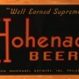 Hohenadel Beer Reverse Painted Glass Photo 2
