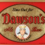 Dawson's Ale - Beer Reverse Painted Glass Sign Photo 2