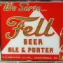 Fell Beer Ale & Porter Reverse Painted Glass Sign Photo 2