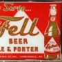 Fell Beer Ale & Porter Reverse Painted Glass Sign Photo 3