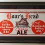 Boar's Head Cream Ale Framed Paper Sign Photo 2