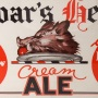 Boar's Head Cream Ale Framed Paper Sign Photo 3