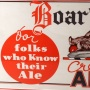 Boar's Head Cream Ale Framed Paper Sign Photo 4