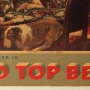 Red Top Beer Hanging Cardboard Sign with Dogs Photo 2