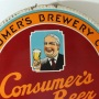 "Consumer's Beer ""Ask Father"" Tin Charger Sign Photo 2"