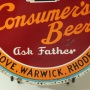 "Consumer's Beer ""Ask Father"" Tin Charger Sign Photo 3"