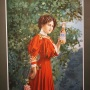 Anheuser-Busch Budweiser Girl Chromolithograph Photo 3