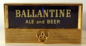 Ballantine Ale & Beer Glass and Metal Plaque Photo 3