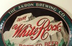 White Rock Bottled Beer - Akron Brewing Co. Oval Tray Photo 3