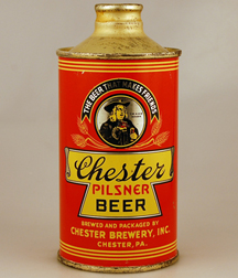 Chester J Spout Cone Top Beer Can