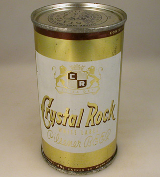 Crystal Rock Whitel Label Pilsener Beer Can