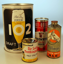Gallon, half quart, 8oz, odd beer cans