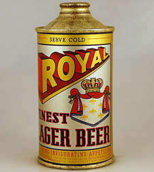 Royal Finest Lager Beer Cone Can