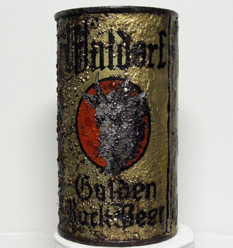 Waldorf Golden Bock Flat Top Beer Can