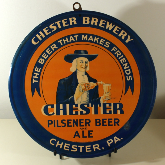 Chester Pilsener Beer & Ale Tin Charger Beer