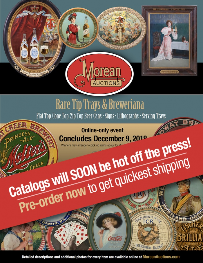 December Exotic Tip Tray, Beer Can & Breweriana Auction Catalog Beer