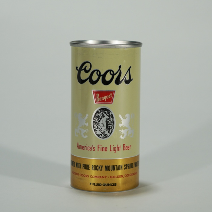 Coors Banquet 7 oz Flat Top Can 239-21 Beer