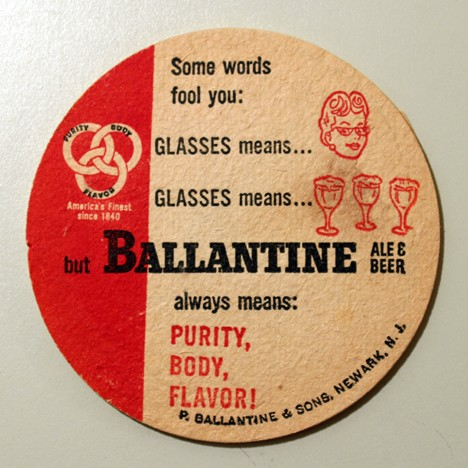 Ballantine Ale & Beer - Glasses (Early Version) Beer