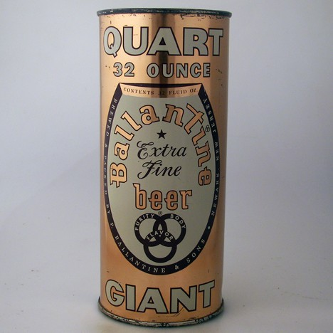 "Ballantine Extra Fine Beer ""Quart 32 Ounce Giant"" 237-01 Beer"