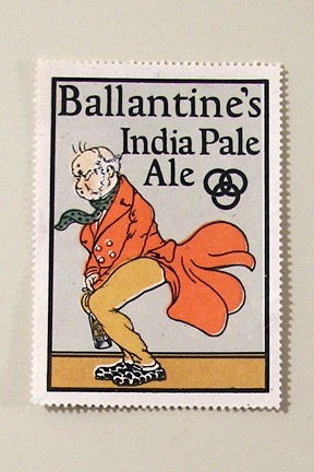 Ballantine's India Pale Ale Poster Stamp (Cinderella) Beer