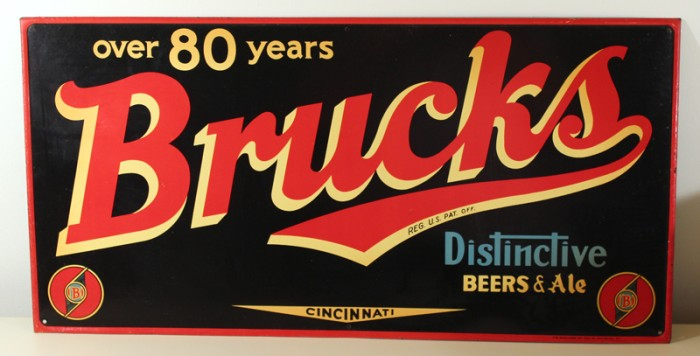 Brucks Distinctive Beers & Ale Tin Sign Beer