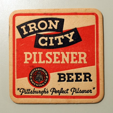 Iron City Pilsener Beer - Square - Absorbo On Reverse Beer