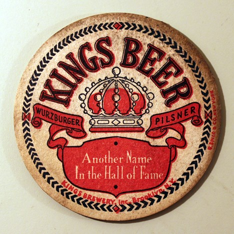 "Kings Beer - ""Another Name In The Hall Of Fame"" White Writing Beer"