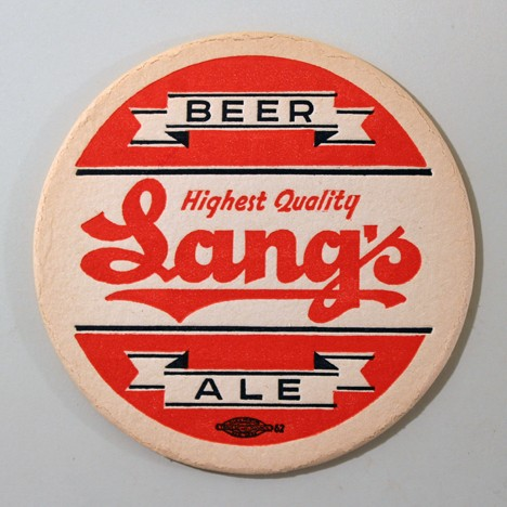 "Lang's Beer - Ale ""Highest Quality"" Union Label Beer"