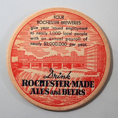 "Rochester-Made Ales & Beers ""4 Rochester Breweries..."" Red/Black Beer"
