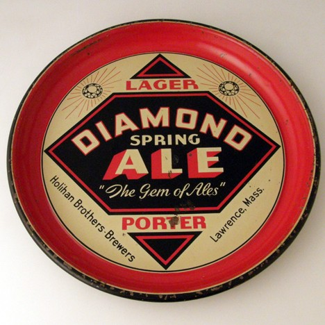 Diamond Spring Ale Beer Tray Beer