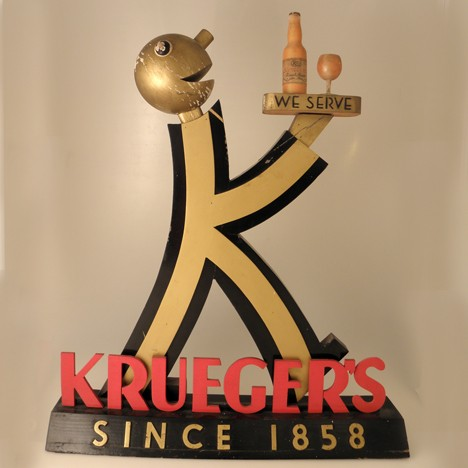 Krueger's Baldy Back Bar Statue Beer